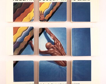 THE FIXX recycled Reach the Beach album cover coasters with record bowl