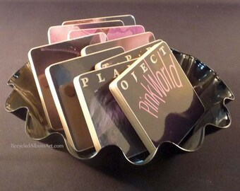 PLANET P PROJECT recycled Pink World record album coaster set