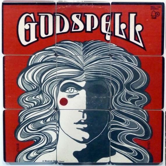 GODSPELL Recycled Album Art Coasters Warped LP Bowl
