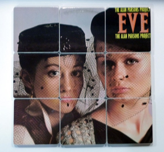 Alan Parsons Project recycled Eve album sleeve coasters and wacky record bowl