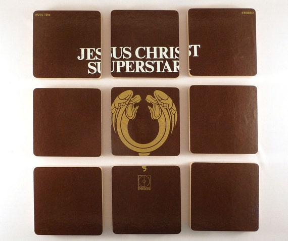 JESUS CHRIST SUPERSTAR - Recycled Album Art Coasters and Record Basket