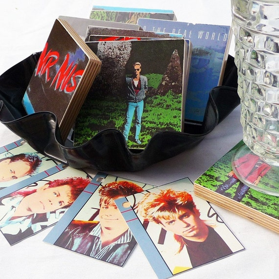 Coasters with basket from MR. MISTER Record Album