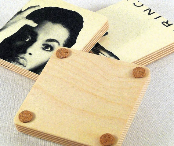 PRINCE & The REVOLUTION - PARADE Moon Record Album Coaster Set