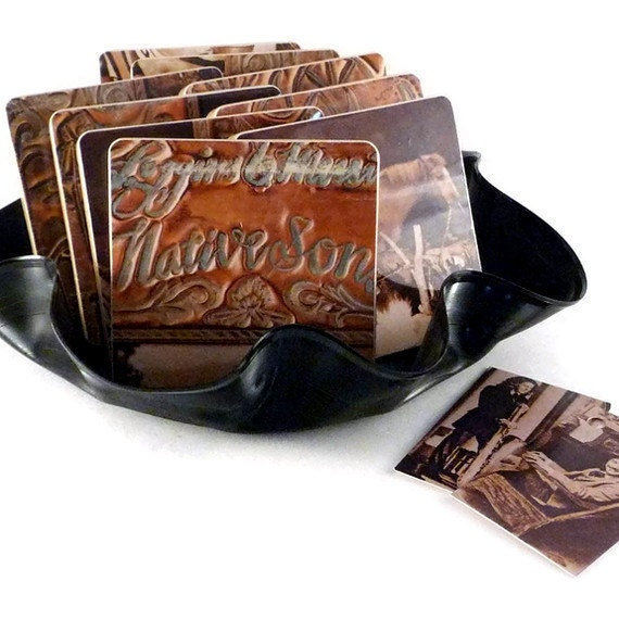 LOGGINS and MESSINA - Record Album Coasters with Vinyl Record Bowl