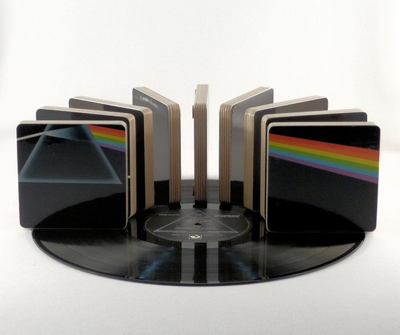 PINK FLOYD Coaster Set from The Dark Side of the Moon Record Album