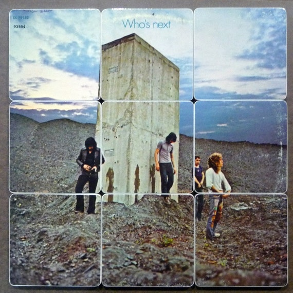 THE WHO Album Art Cover Coasters and Warped Record Basket