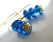 Blue Glass earings