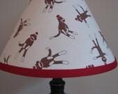 Lamp shade Sock Monkey Bedroom Nursery