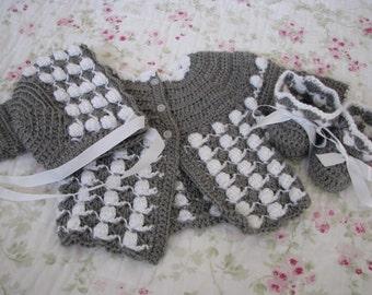 Grey sweater set 3 piece