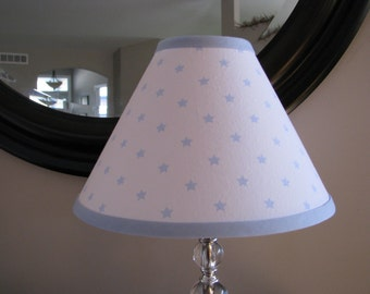 Lamp shade Blue and white stars