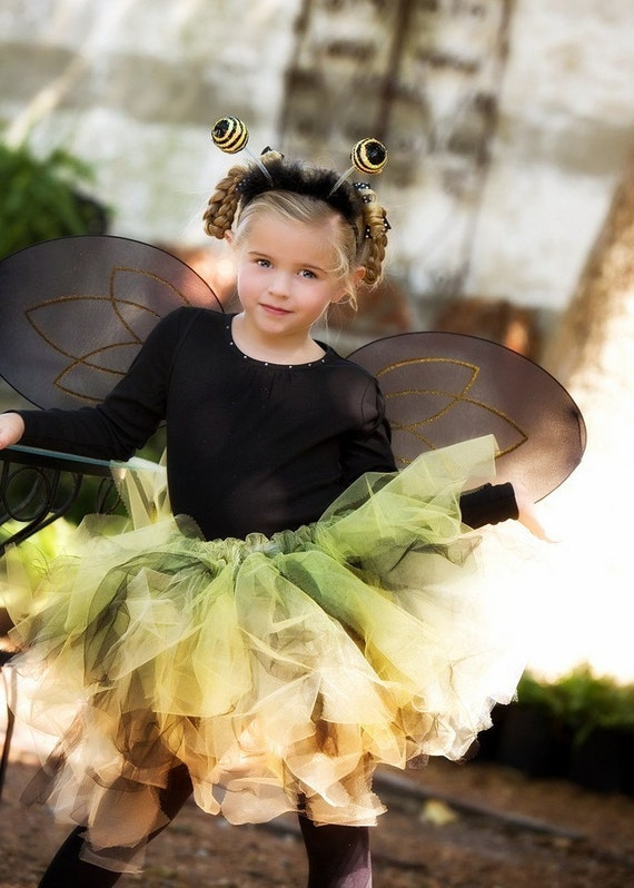 Bumblebee Costume  Bumble bee Tutu costume  size infants to adults