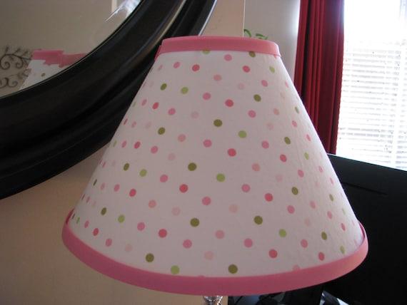 Pink And Green Polka Dot Lamp Shade By Zacharydickorydock