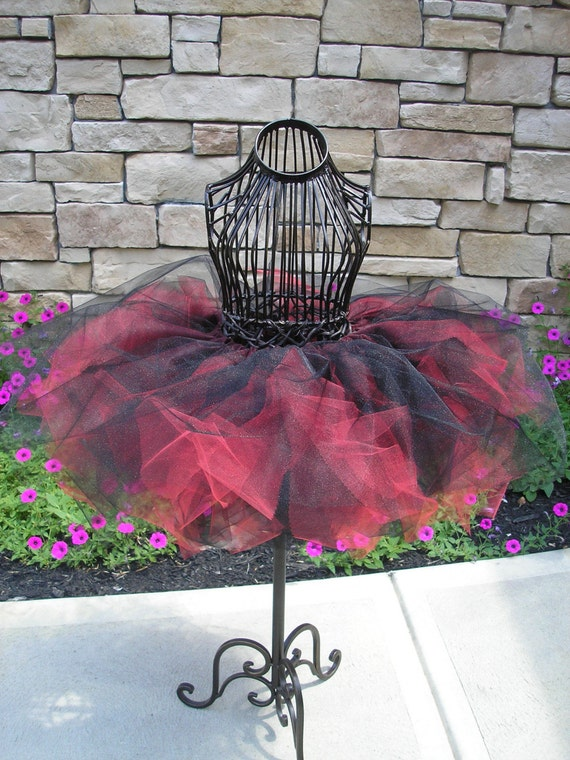 Black and Red Tutu Pirate Costume Ready to ship