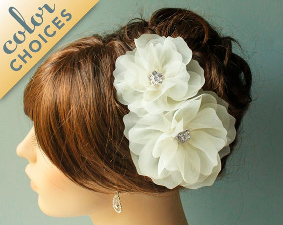 Double Blossom fascinators with sparkling centers. MADE TO ORDER St 82.
