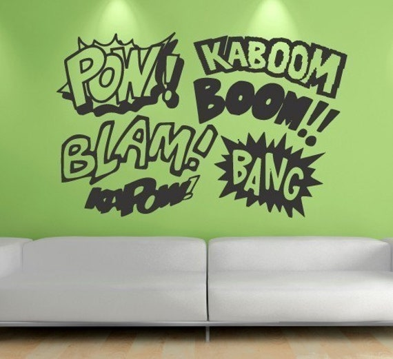 Comix SFX Urban Room Decor Vinyl Wall Decal
