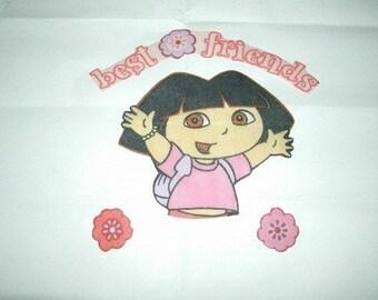 Dora iron on appliques