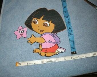 Dora Iron on Applique