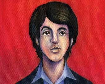 "Paul McCartney of the Beatles - 5""x5"" or 10""x10"" Painting Print"