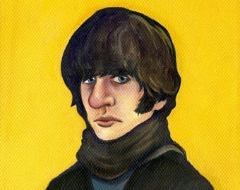 """Ringo Starr of the Beatles - 5""""x5"""" or 10""""x10"""" Painting Print"""