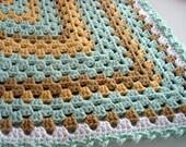 Crochet Granny Square Baby/ Lap Blanket