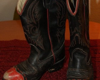 SALE * 1960's Vintage KIDS Cowboy Cowgirl Boots FREE Shipping