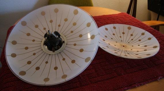 1960s Mid-Century Saucer Pendant Lamp