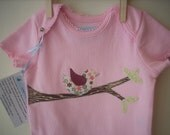 Bird on a Branch Bodysuit-Size 12 mos- Reserved Listing for mhubner