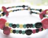 SALE-Jamaican Memory Wire Bracelet