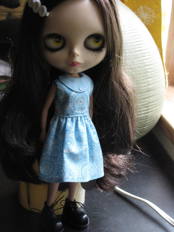 Miss Mod dress - Cool Blue