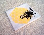 Block Printed Honeybee Towel