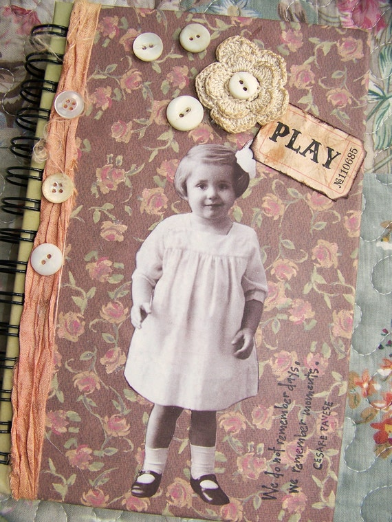Vintage Altered Journal  Vintage Blank Journal Vintage Style  Child's Journal