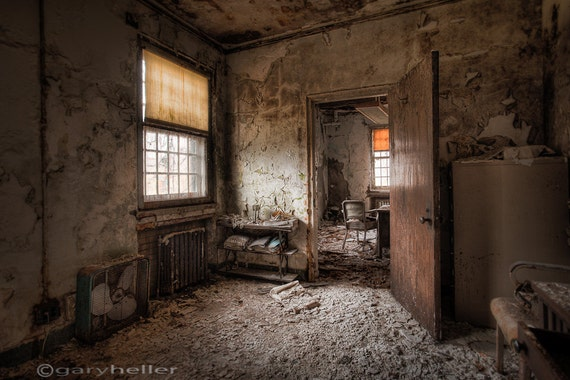 What Once Was Old Room Abandoned Asylum Hdr Photograph