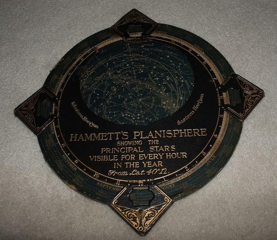 vintage leather hammetts planisphere star chart finder. Black Bedroom Furniture Sets. Home Design Ideas