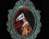Equine Lady Canvas Print- Bronze Frame