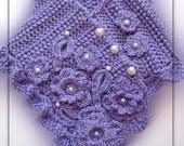 PDF Pattern Crochet lavender romantic scarflette No 19 by Fibreromance
