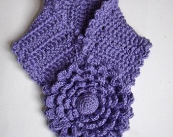 PDF Pattern Crochet Multi petal lavender flower scarflette No 18 by Fibreromance