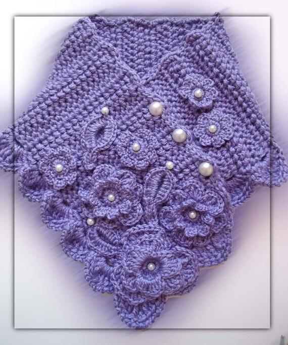 Crochet Stitch Ltr : PDF Pattern Crochet lavender romantic scarflette No 19 by Fibreromance