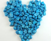 Turquoise Colored Dyed Howlite Chip Beads Reclaimed Recycled Rescued A4