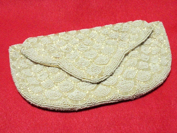 Vintage West Germany Walborg Hand Beaded Clutch Purse Perfect for the Bride or Weddings Perhaps a Winter Ball