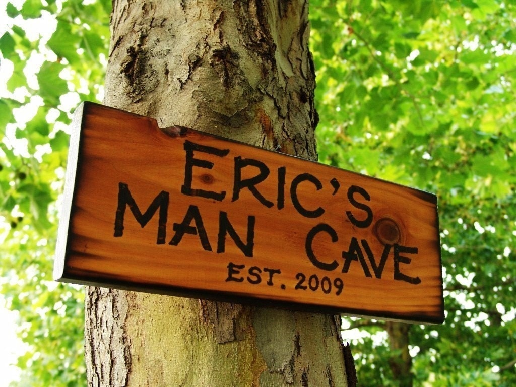 Timber Man Cave Signs : The man cave custom wood sign burned rustic personalized