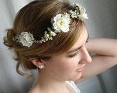 angel hair - a floral vine crown