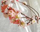 folklore - a cherry blossom wreath
