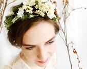 mossy floral head wreath - FOREST LORE - a wedding, bridal, rustic hair accessory