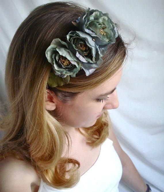 misty morning - a vintage rose headband