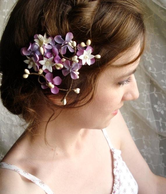 lilac flower hair clip - LILAC BRANCH - a twiggy accessory
