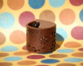 Brown Daisy- Older child's or women's cuff