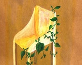 Garden Print art children bedding 11 x 8 print environmental think green chair nature plant toast brown yellow