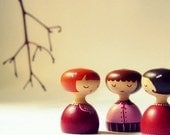 Les Mademoiselle - Wooden art doll hand painted