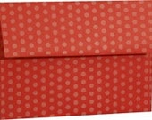 Red Polka Dot Envelopes - Set of 25 A7 Size - Perfect for 5x7 Photos or Cards