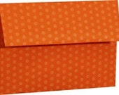 Orange Polka Dot Envelopes - Set of 25 A7 Size - Perfect for 5x7 Photos or Cards